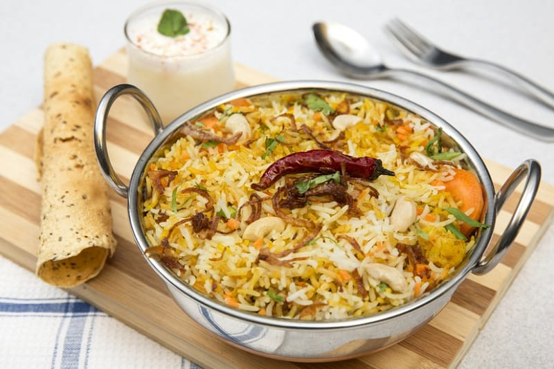 Biryani at Hotel Shadab